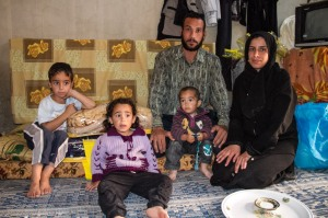 A Syrian family in the Jordanian city of Mafraq, near the Syrian border.