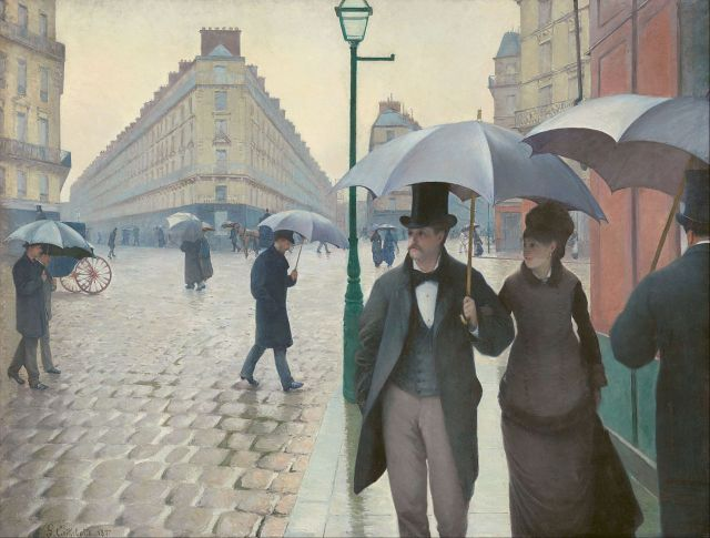 """Paris Street; Rainy Day"" by Gustave Caillebotte. The Art Institute of Chicago."