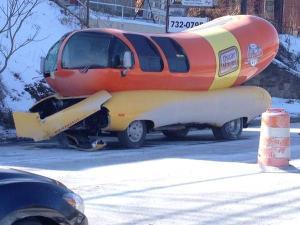 Wienermobile crash